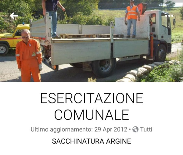 2012 04 29 Esercitazione Comunale